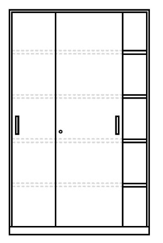 Armadio Ante Scorrevoli Dimensioni.Cm Met P45 L120xh200 A Armadio In Metallo Con Ante Scorrevoli E