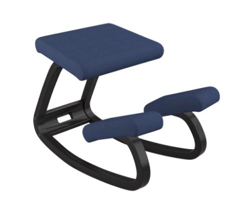 Vr variable nero rev blu varier variable sedia ergonomica